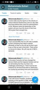 BREAKING: Twitter deletes Buhari's 'threat' tweet against South East